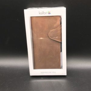 Light brown leather case Huawei P30 NWT